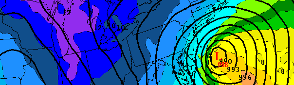 European forecast model forecast a significant low pressure system off the NJ Coast on Saturday evening. If the storm develops, it could bring snow to much of the area.