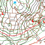 Almost all forecast models show a low pressure system on the East Coast this weekend.