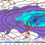 SREF ensemble mean showing a significant snowstorm on Monday.