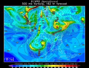 The European model at 162 hours, which is valid for Wednesday afternoon.
