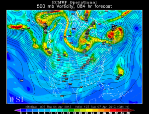 The 00z Euro has the ULL as a much more powerful feature.
