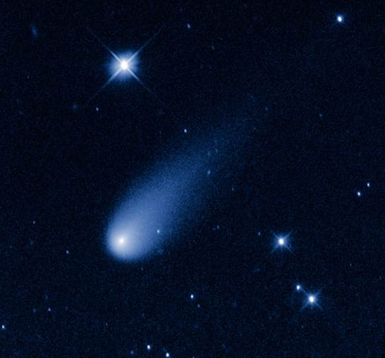 Comet ISON, as seen from the Hubble Space Telescope on May 8th, 2013 as it passed somewhere between Jupiter and Mars.