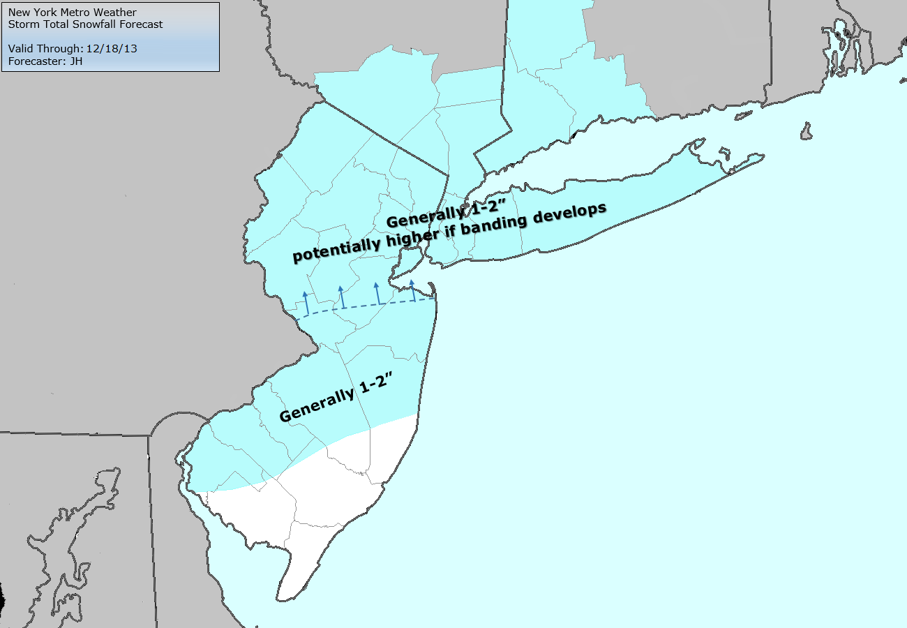 Storm Total Snowfall forecast, valid through Wednesday evening.