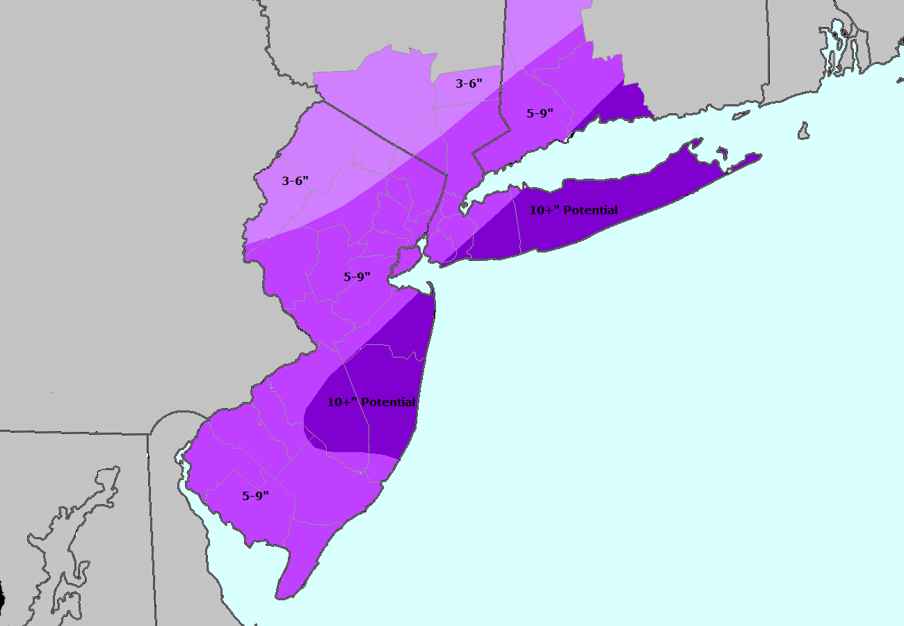 Storm Total Snowfall Forecast from Jan 20 2014