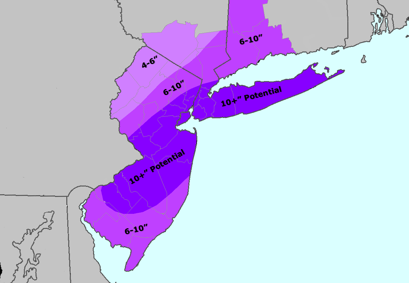 Our latest storm total snowfall forecast.