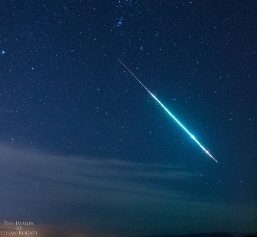 Sunday's meteor as captured by Ethan Rogati.