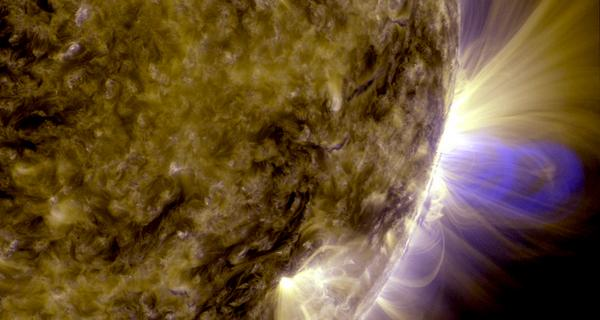 Imagery showing the solar flare from Wednesday which registered as X-Class. Courtesy EuroGeosciences.