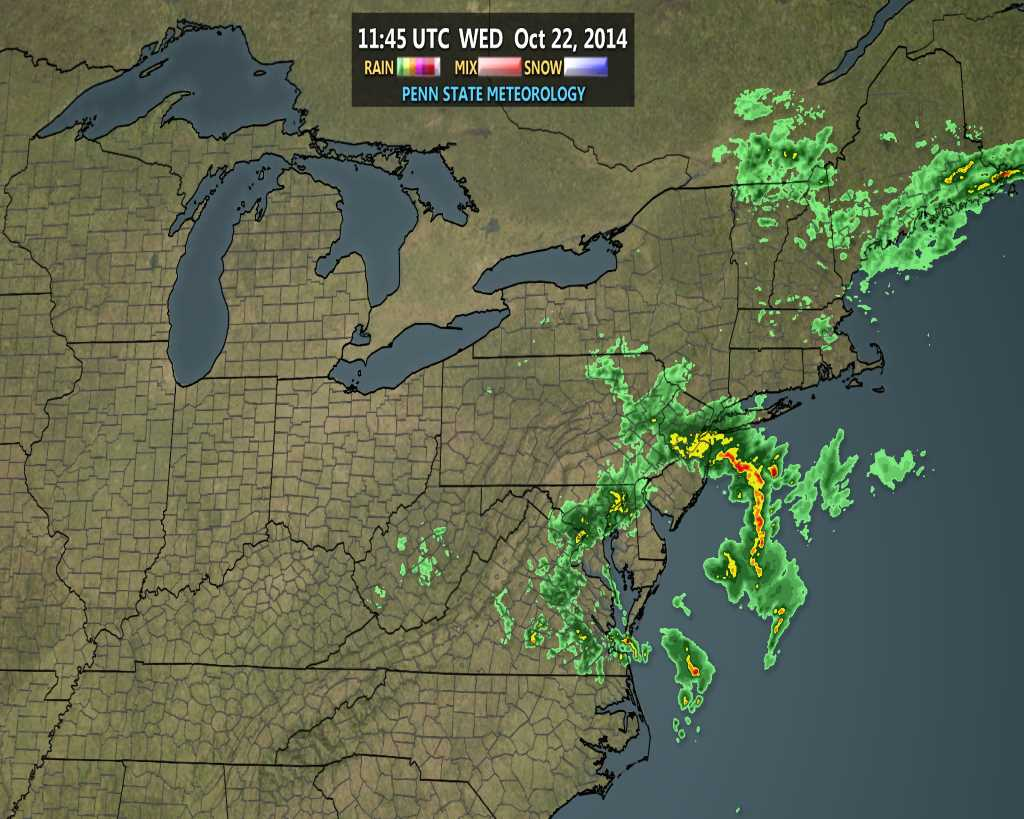 Regional radar imagery this morning showing the influx of heavy rain into the area.