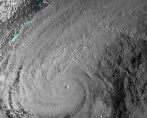 Super Typhoon Nuri maxed out at 180mph on Monday. It is currently weakening, but may become a monstrous extratropical storm near Alaska over the next few days.