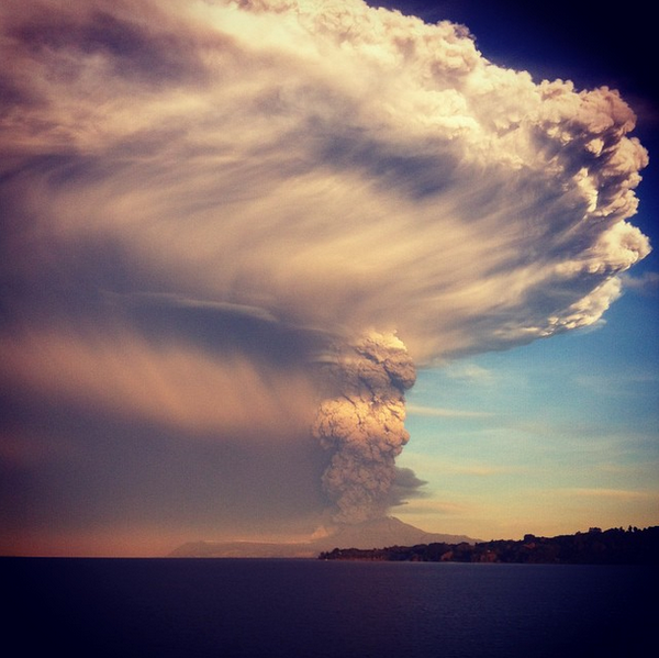Calbuco erupts on Wednesday. (Getty Images)