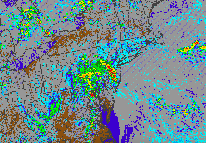 Very heavy rain and embedded storms would be likely on Sunday if the remnants of Bill track toward our area.