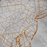 Visible satellite imagery from the afternoon of Monday, April 29 2013 showing clouds overspreading the area. Many areas were observing drizzle and light rain in response to a weak disturbance moving near the area.