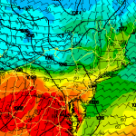 RAP model showing forecast high temperatures on Thursday.