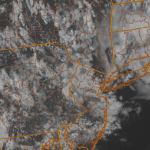 Visible satellite imagery from the evening of May 9 2013. You can visualize the circulation of the upper level low, located just east of Long Island.