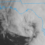Tropical Storm Andrea, spinning in the Gulf of Mexico on the morning of June 6th 2013.