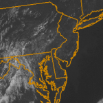 Visible satellite imagery from June 20, 2013 showing clear and pleasant weather across the Northeast US.