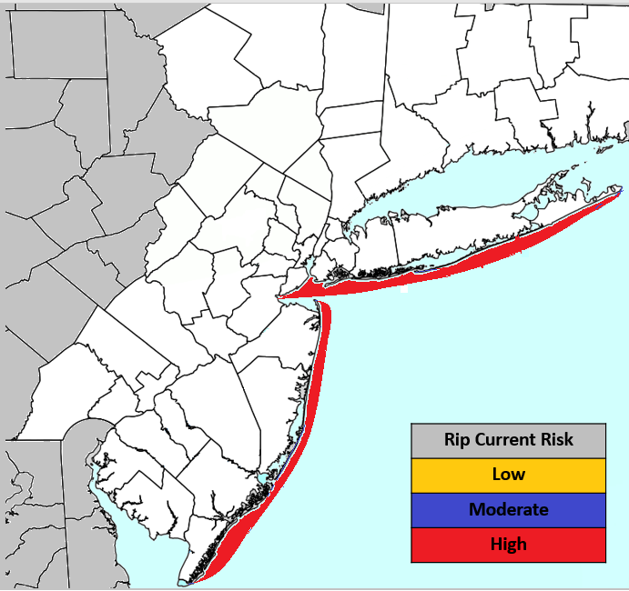 Rip Current Risk Map 072917