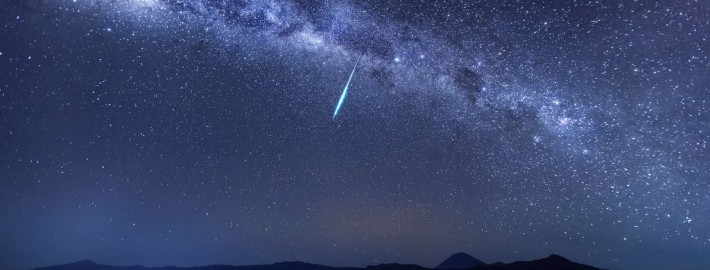 Meteor captured during the Eta-Aquarid meteor shower in 2013 by Justin Ng.