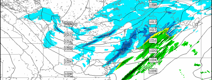 Today's RGEM model shows a light to moderate band of snow passing through the area tomorrow morning.