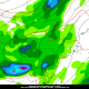 Today's NAM Model valid for Tuesday evening shows more widespread showers and thunderstorms developing.