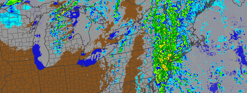 0z NAM simulated radar for this evening