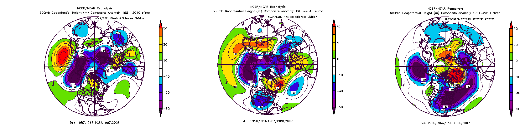 DJF Mod-Strong w +QBO 500mb anomaly