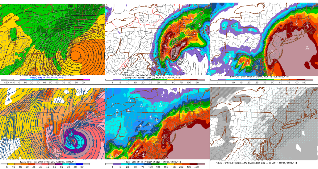 0z GFS on the night of Sept. 30th showing Joaquin nearing the Southern NJ. This solution never came true.