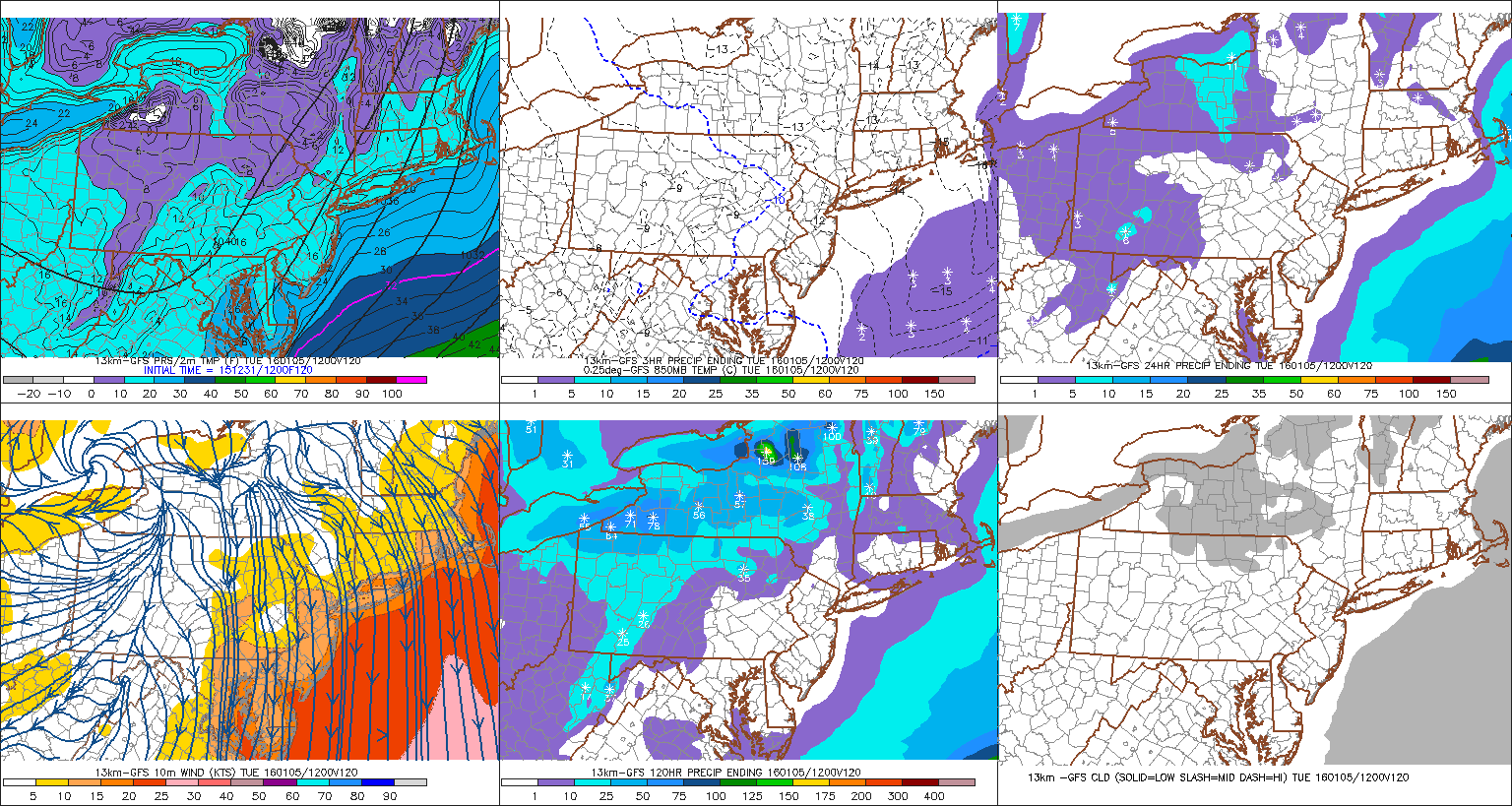 The 12z GFS showing low temperatures in the teens Tuesday morning