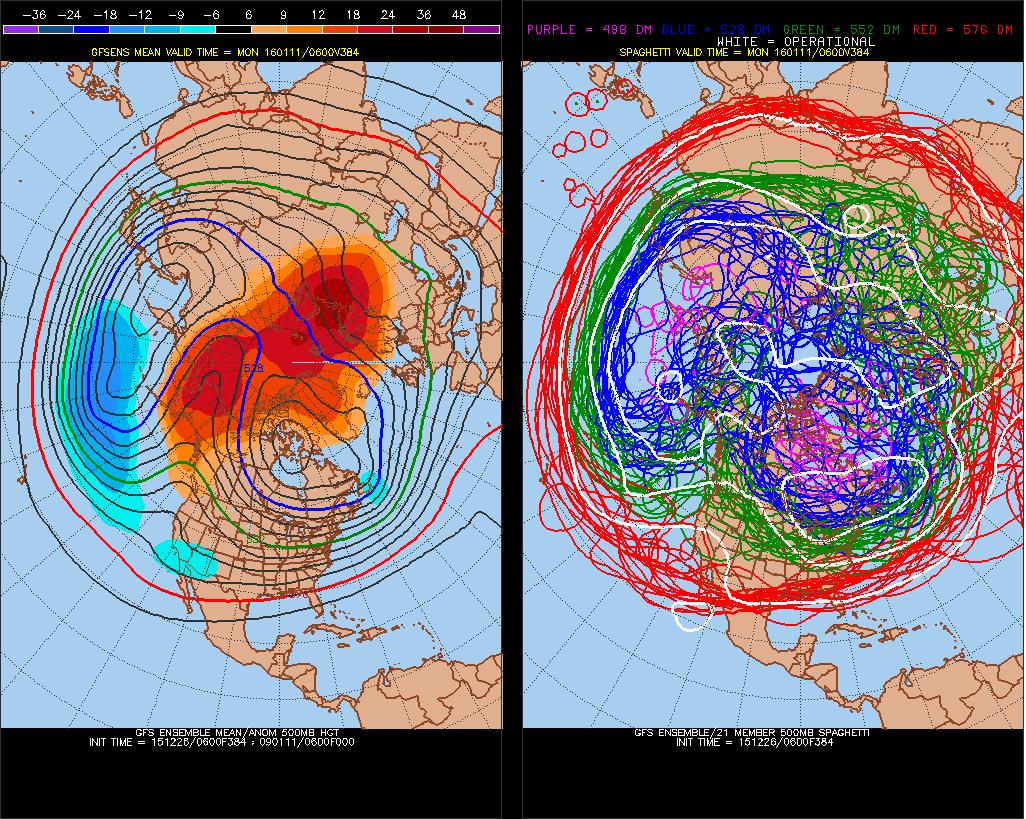 The 6z GEFS showing high-lattitude blocking towards mid-January