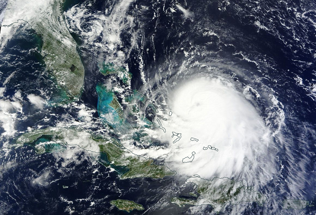 Visible satellite image for Joaquin from September 30, 2015. Image credit: NASA