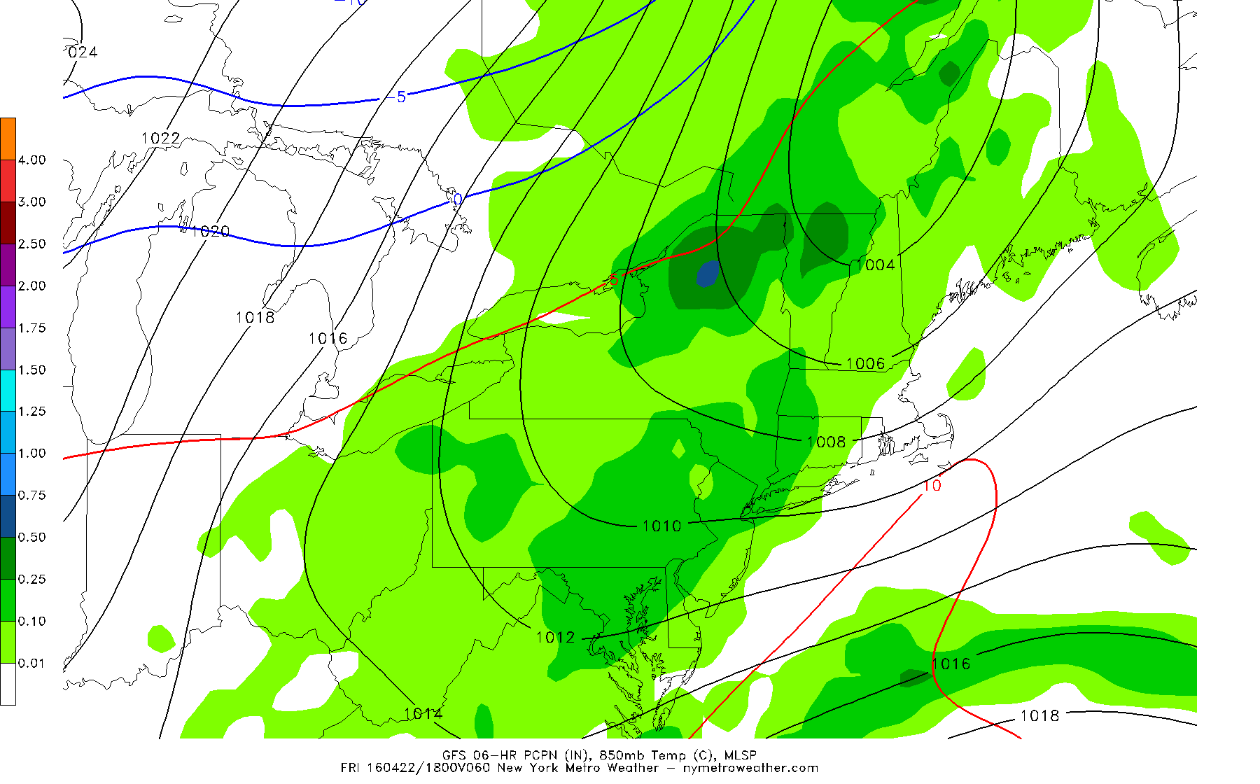 The 6z GFS showing cold front trigger showers across much of the region by Friday afternoon.