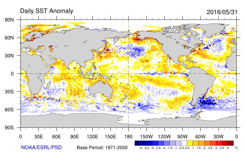 Sea-Surface Temperature Anomalies