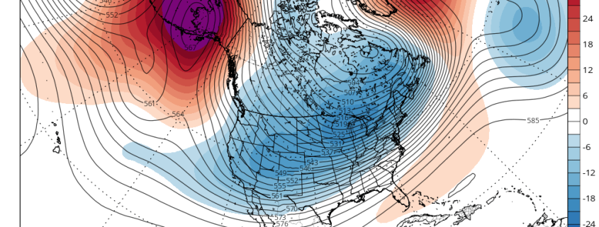 Today's European Ensemble Mean valid for January 6th shows a dual -EPO and -NAO pattern, which is favorable for snow in the East (Tropical Tidbits).