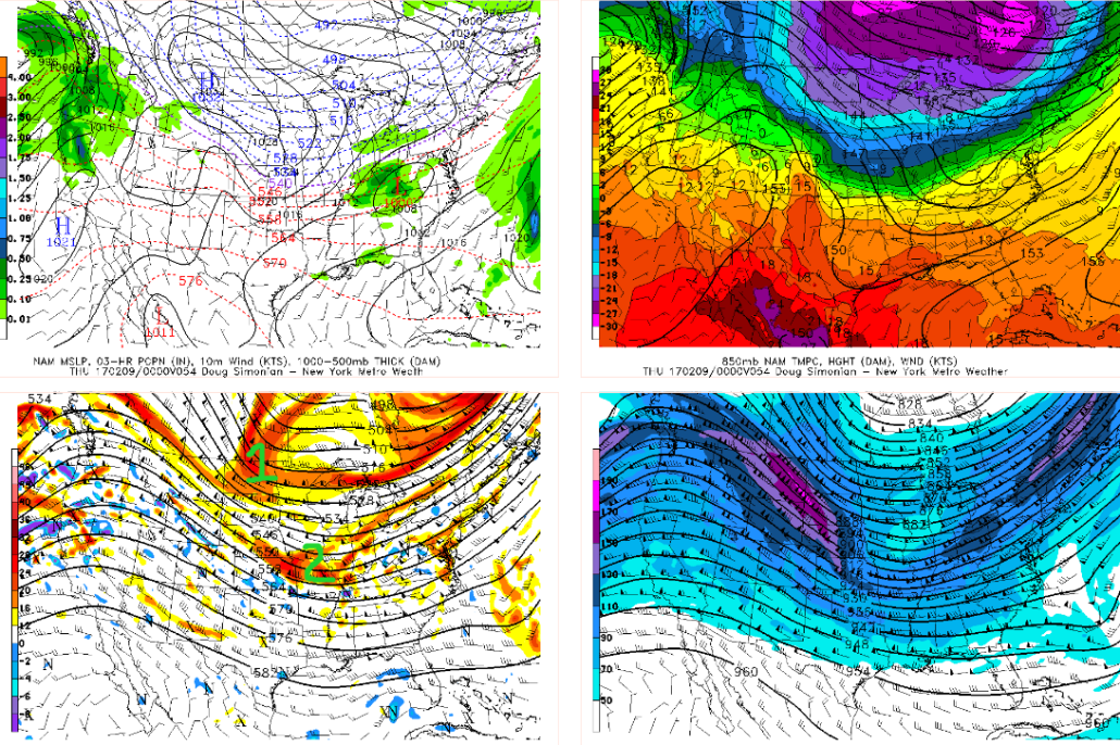 18z NAM showing interaction between the northern stream and Pacific energy (Valid 8pm Wednesday)