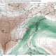 Today's GFS model valid for Sunday afternoon shows a storm system sending a high amount of precipitable water up the Eastern Seaboard (Tropical Tidbits).
