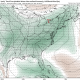 Today's GEFS valid for the Wednesday evening shows plenty of precipitable water building across the Eastern half of the nation, setting the stage for more rain to develop (Tropical Tidbits).