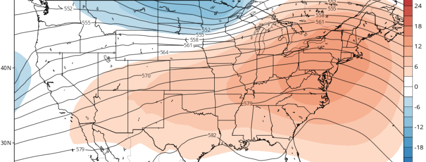 GFS ensembles showing ridge over Northeast and Mid-Atlantic region on Easter Sunday
