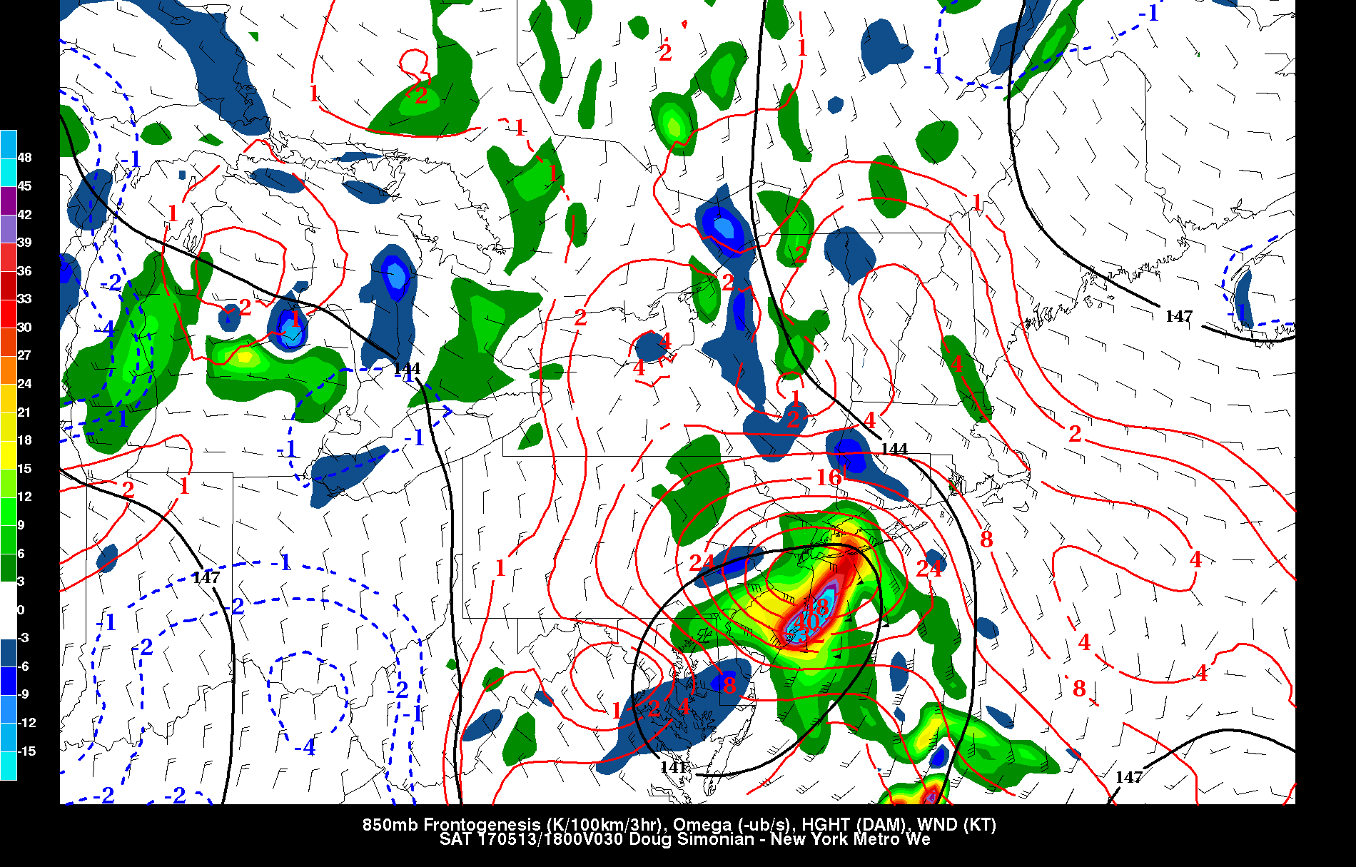 NAM showing storng mid-level frontogenesis over the region tomorrow afternoon