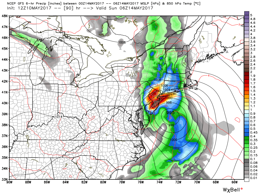 Forecast models are suggesting the development of a strong low pressure area with very heavy rain on Saturday.