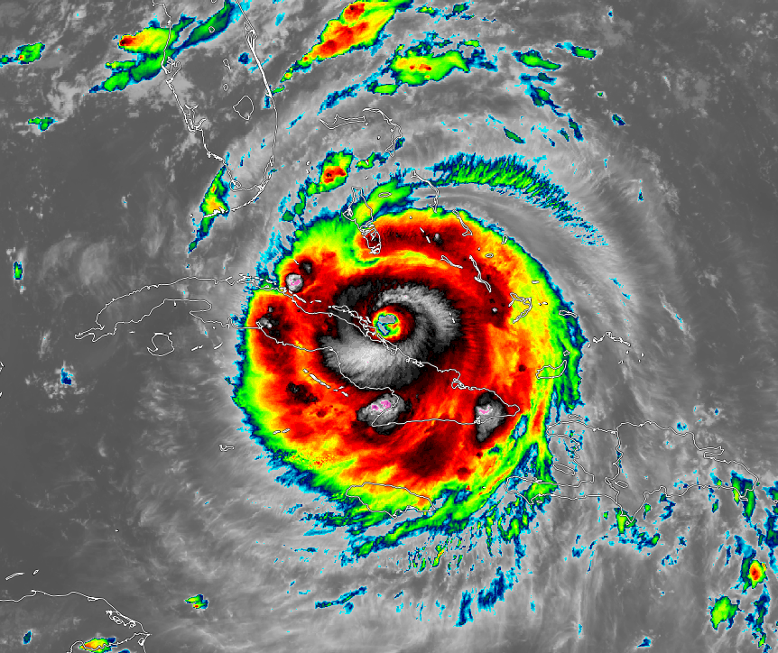 Current GOES 16 shot of Hurricane Irma with 155 mph winds just off the Cuban coast