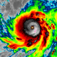 GOES 16 Infrared Imagery of Maria, courtesy of RealEarth.