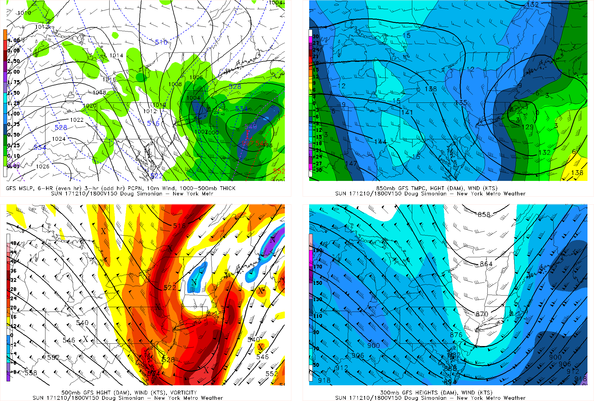 GFS model showing the polar shortwave amplifying, resulting in more deeper low developing just offshore Sunday