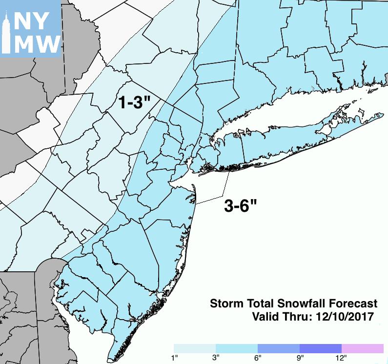 Storm total snowfall forecast