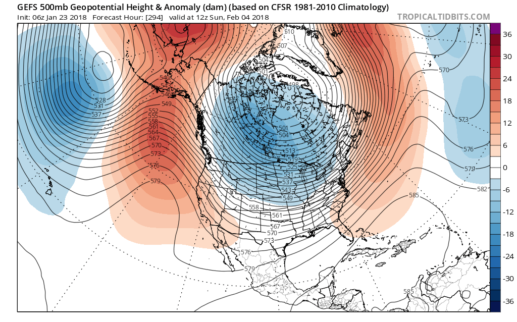 Forecast models are already beginning to catch on - suggesting a major change to the pattern over the USA by February 5th.