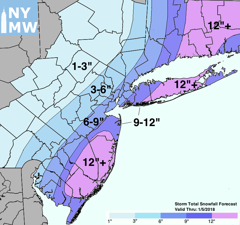 Storm Total Snowfall Forecast