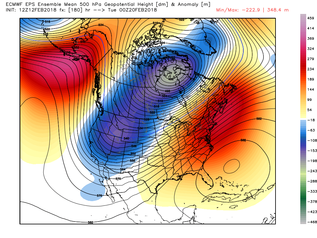 This afternoons European ensembles showing a very warm pattern shaping up in the medium range across the East