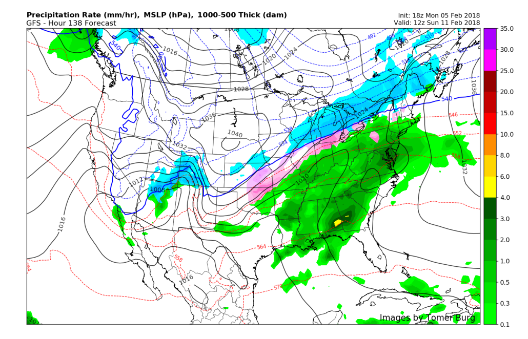 This afternoons GFS model showing the potential for another system to impact the east this weekend
