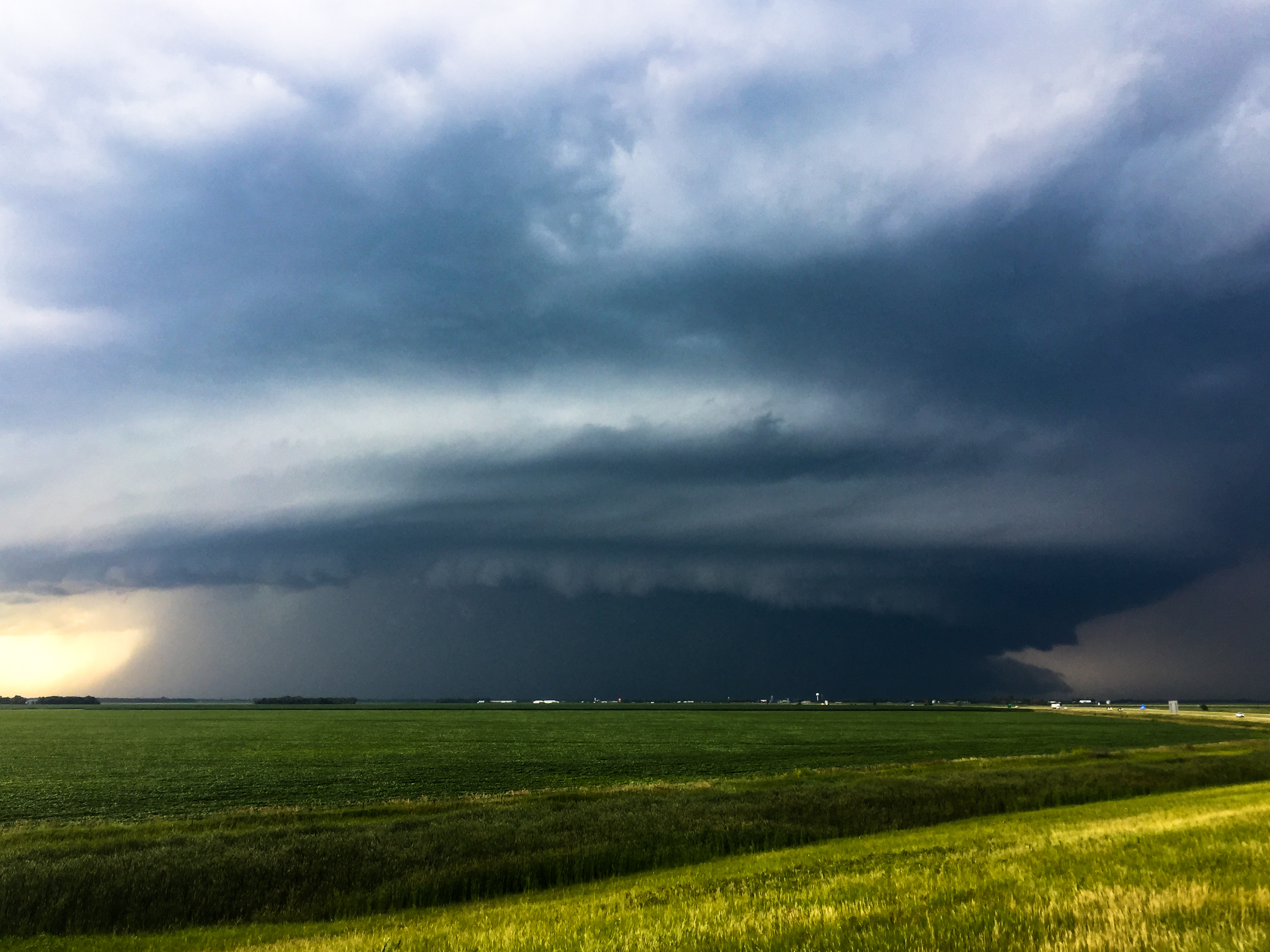 A high-precipitation supercell near Buxton, ND